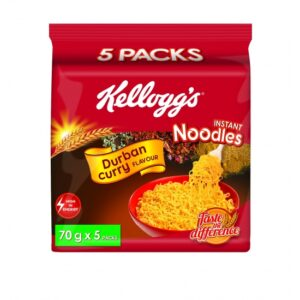 Kellogs Instant Noodles Durban Curry 70g pack of 5