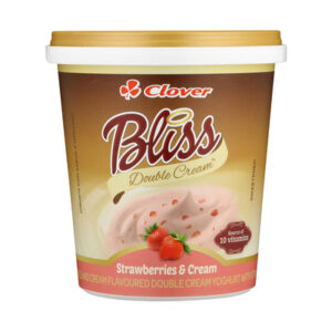 Clover Bliss Double Cream Strawberry & Cream Yoghurt 1kg