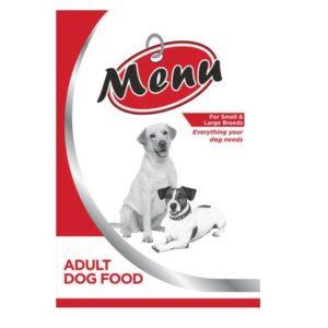 Menu Dog Food