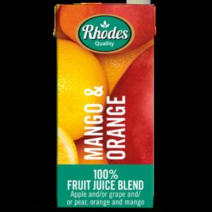 Rhodes 100% Fruit Juice Blend Mango Orange 1lt